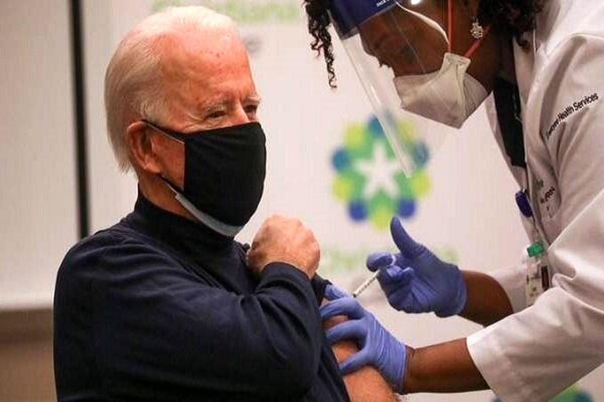 «جو بایدن» نخستین مرحله از واکسن کرونا را تزریق کرد