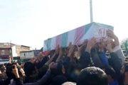 مراسم تشییع شهید مدافع حرم  در ساری برگزار شد
