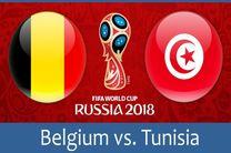 ترکیب تیم ملی فوتبال بلژیک و تونس اعلام شد