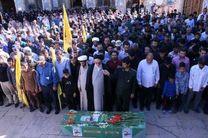 پیکر مطهر یک شهید مدافع حرم در شیراز تشییع شد