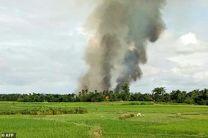 تخریب روستاهای مسلمان نشین توسط ارتش میانمار