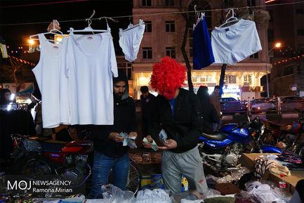 حال و هوای بازار تجریش در شب پایانی سال ۹۶