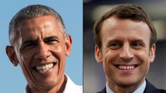 حمایت اوباما از ماکرون