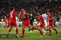دیدار تیم های فوتبال پرسپولیس ایران و پاختاکور ازبکستان