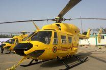 بالگرد اورژانس یزد به کمک حادثه دیدگان تصادف رفت