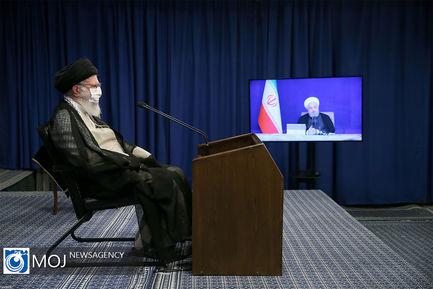 سخنرانی رهبر انقلاب در ارتباط تصویری با جلسه هیات دولت