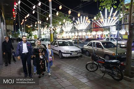 آذین بندی خیابان های تهران به مناسبت نیمه شعبان
