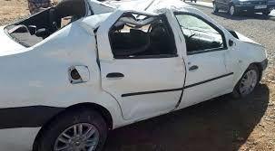 2 کشته و سه مصدوم در اثر  واژگونی یک خودرو ال 90 در نجفآباد