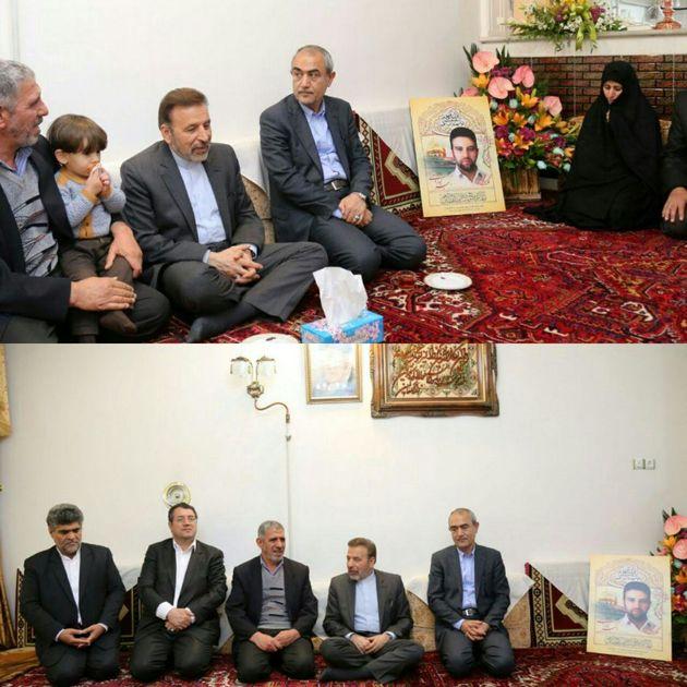 رئیس دفتر رئیس جمهور با خانواده شهید «زوار جنتی» دیدار کرد