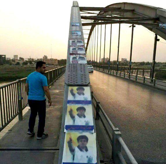 آغاز پاکسازی کلانشهر اهواز از مظاهر تبلیغاتی