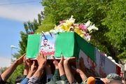 تشییع پیکر شهید ستوان دوم جمشیدی در شهرضا