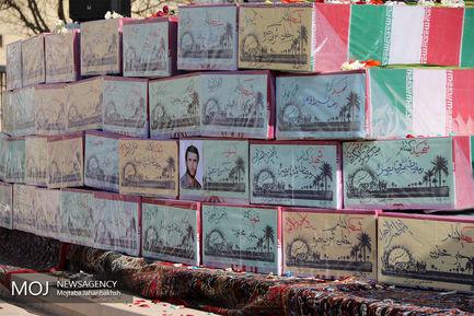 استقبال از پیکر ۳۴ شهید دفاع مقدس در اصفهان