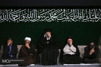 عزاداری شهادت حضرت فاطمه (س) با حضور مقام معظم رهبری