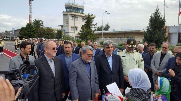 وزیر کشور وارد فرودگاه سردار جنگل رشت شد/استاندار گیلان امروز معارفه می شود