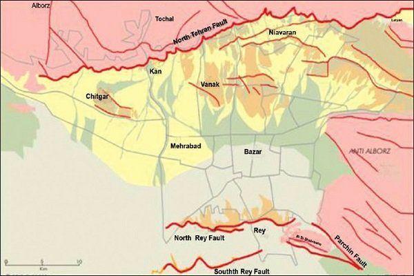 تهران دارای سه گسل عمده است/در تهران بالغ بر هزار گسل وجود دارد