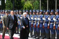 رئیس جمهور آذربایجان از روحانی رسما استقبال کرد