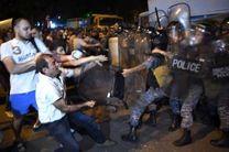 درگیری ها میان پلیس و تظاهرکنندگان در ایروان دهها زخمی برجا گذاشت