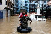 کشته شدن حداقل 21 نفر در اثر سیل و رانش زمین در نپال