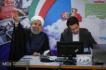 رئیس جمهور با همراهی وزیر کشور برای دومین بار در انتخابات ریاست جمهوری ثبت نام کرد