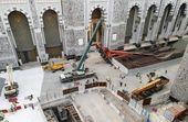 سقوط مجدد یک جرثقیل در مسجد الحرام/ یک نفر زخمی شد