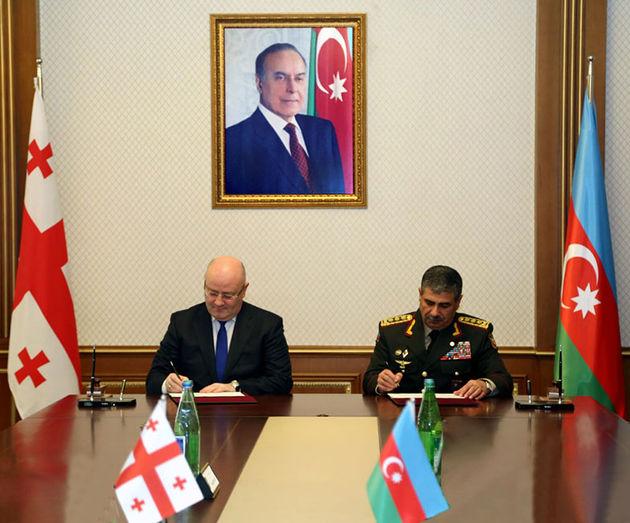 امضا سند همکاری نظامی میان جمهوری آذربایجان و گرجستان