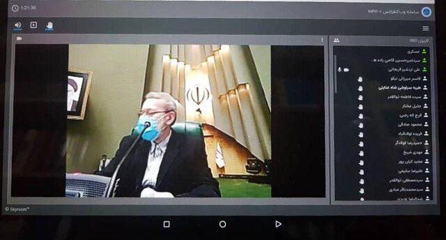 نخستین جلسه مجازی مجلس شورای اسلامی برگزار شد
