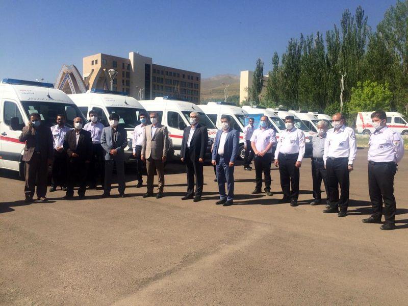 افزایش 8 دستگاه آمبولانس بنز به ناوگان اورژانس پیش بیمارستانی استان همدان