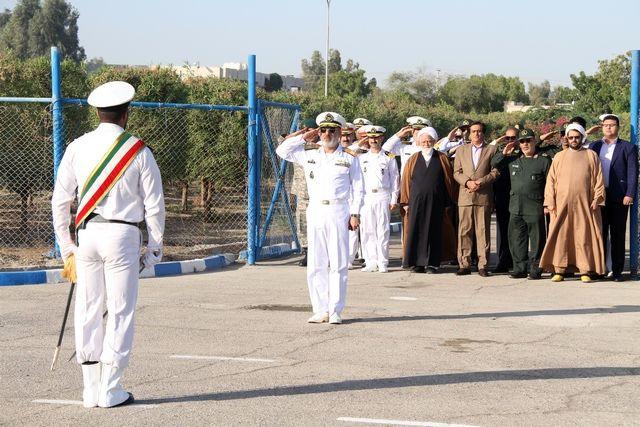 برگزاری صبحگاه مشترک نیروهای مسلح بندرعباس در منطقه یکم امامت