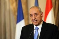 پیام تسلیت رئیس پارلمان لبنان در پی حادثه سقوط هواپیما تهران-یاسوج