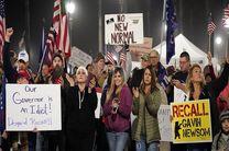 سرکوب معترضان آمریکایی توسط پلیس