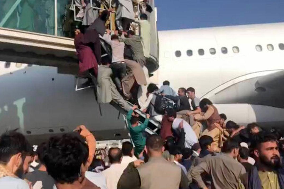 هفت کشته در پی ازدحام اطراف فرودگاه کابل