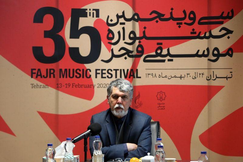 وزیر فرهنگ و ارشاد اسلامی از دبیرخانه جشنواره موسیقی فجر بازدید کرد