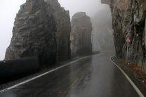 بارش باران در محورهای ۲ استان مازندران و گلستان