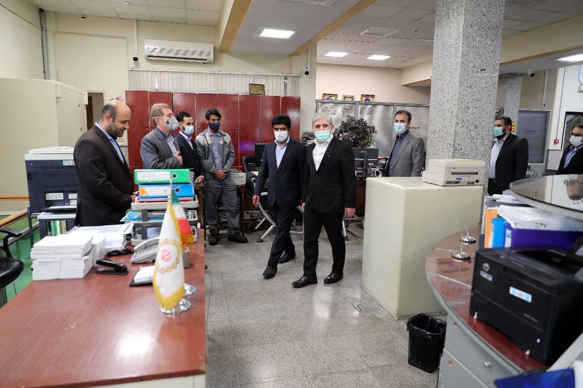 بازدید سرزده مدیرعامل بانک ملی ایران از شعبه مستقل فردوسی