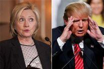 ترامپ از کلینتون در رقابت های انتخاباتی جلو افتاد