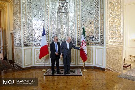 دیدار وزیر امور خارجه فرانسه با محمدجواد ظریف