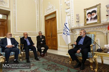 دیدار مسئولین قضایی با علی لاریجانی