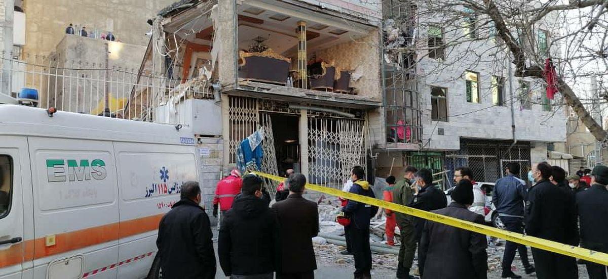 انفجار گاز در نانوایی گلستانک در کرج/ یک کشته و ۴ مصدوم