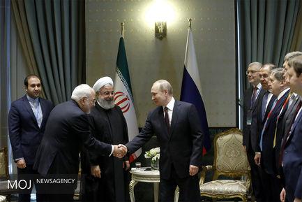 دیدار روسای جمهوری ایران و روسیه