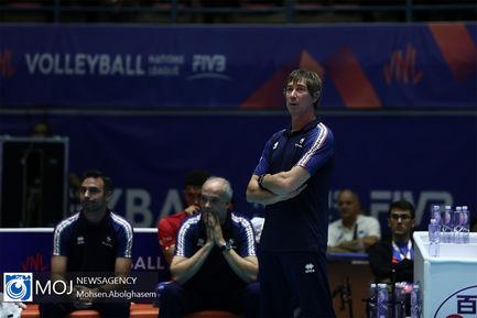 دیدار تیم های ملی والیبال فرانسه و استرالیا