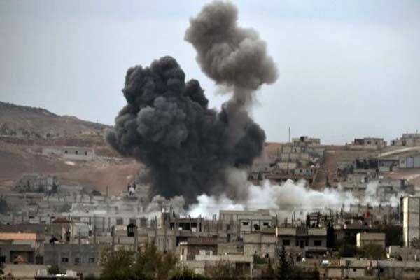 ارتش سوریه مواضع تروریست ها در جنوب دمشق را بمباران کرد