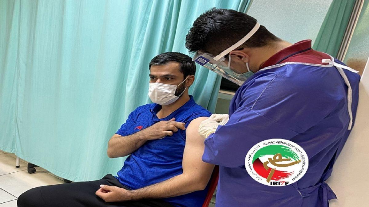 ملی پوشان پاراتکواندوی کشورمان ظهر امروز واکسن کووید ۱۹ را تزریق کردند