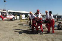 برگزاری مانور امداد و نجات سانحه فرضی هواپیمای مسافربری در اصفهان