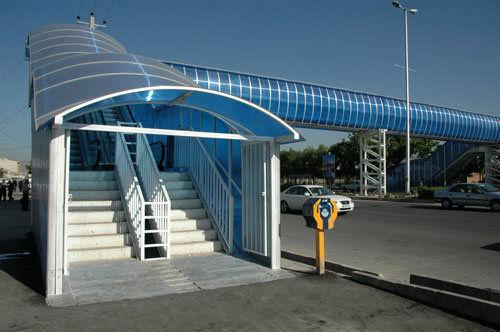 افتتاح پل عابر پیاده روستای درگور بندر خمیر