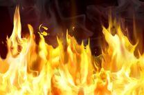 آتشسوزی در انبار کالا در خیابان مصطفی خمینی