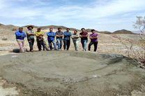 ساخت یک آبشخور در پناهگاه حیات وحش یخاب