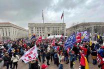 تجمع هواداران ترامپ مقابل کنگره