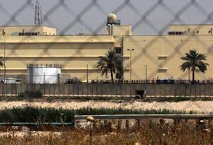 اصابت سه راکت به نزدیکی سفارت آمریکا در بغداد