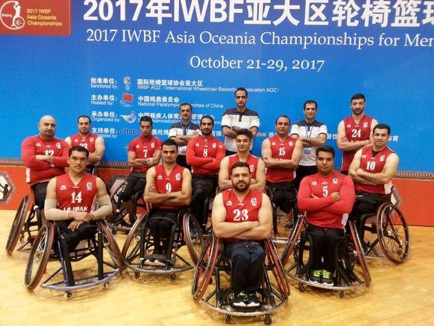 تیم بسکتبال با ویلچر مردان ایران نایب قهرمان شد