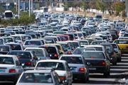 ترافیک سنگین در ورودی کلانشهر تهران